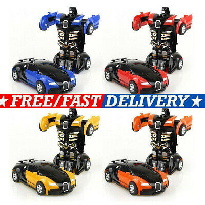 Robot Car Transforming Kids Toys Toddler Vehicle Cool Toy For Boys Xmas Gift NEW