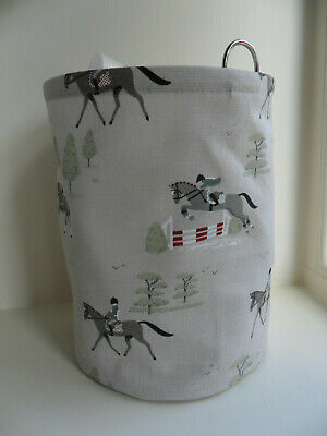 Hanging Clothes Peg Bag Laundry Pot Handmade Sophie Allport Horse Fabric