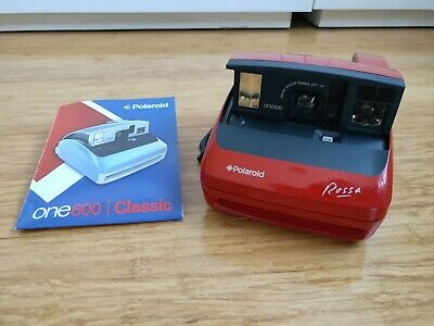 Polaroid One 600 Instant Film Camera OneStep ROSSA RED VERY RARE MINT AS NEW