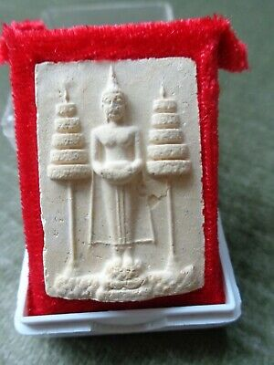 Thai Buddha Cased Amulet /  Charm Original Temple Case  Royal Umberella
