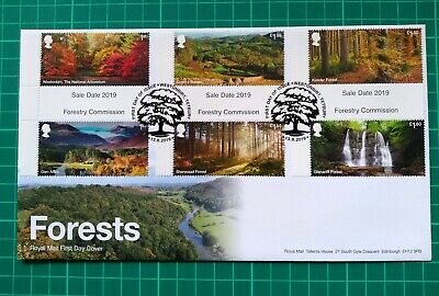 2019 Forestry Commision Forests GUTTERS on FDC Westonbirt PL FDI Postmark