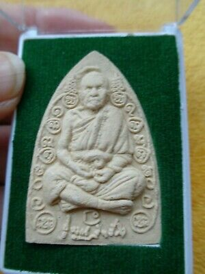 Thai Buddha Cased L.p. Koon Amulet /  Charm Original Temple Case
