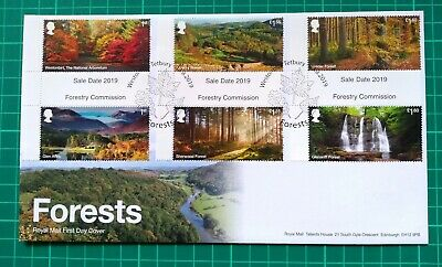 2019 Forestry Commision Forests GUTTERS on FDC Westonbirt Leaves Postmark