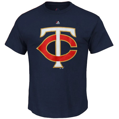 Minnesota Twins Majestic MLB Logo T-Shirt - Navy