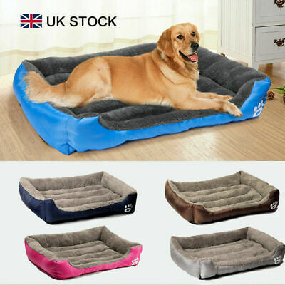 Soft Cozy Warm Fleece Dog Bed Cushion Pet Bedding Kennel for Medium Large Dogs