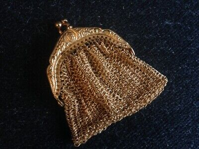 Antique Gold Chainmail Coin Purse