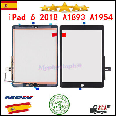 Pantalla Tactil Para iPad 6 6th 2018 A1954 A1893 Touch Digitalizador Negro
