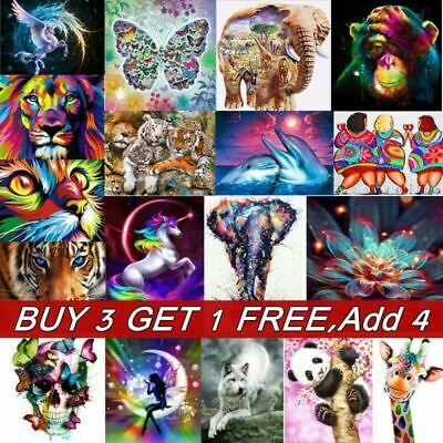 Animal DIY 5D Diamond Painting Embroidery Cross Craft Stitch Art Kit Home Decors
