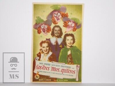 Original 1939 The Three Musketeers Movie Leaflet - Gloria Stuart, Don Ameche