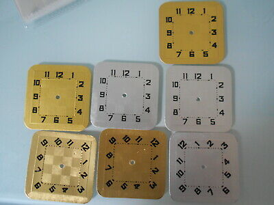 job lot of vintage card clock dials