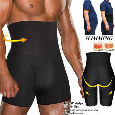 Men Body Shaper Tummy Control Slimming Shapewear Shorts High Waist Bdomen Trim