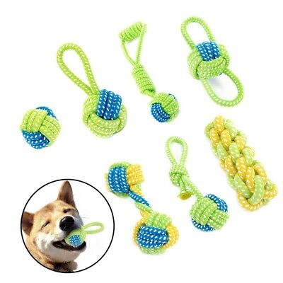 Braided Cotton Rope Pet Dog Interactive Toys for Dogs Chews Bite Training Play