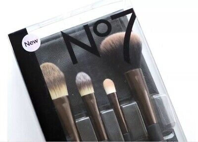 Brand New No7 Core Collection Brush Set & Pouch BNIP