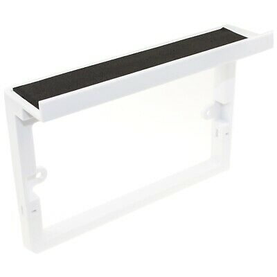 Faceplate Surround with Shelf for USB Power Outlets Mobile Phone Holder Whi