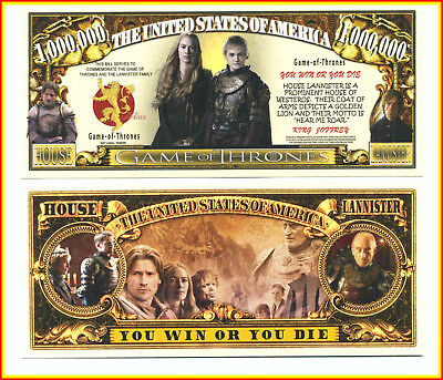 Game of Thrones Billet Million Dollar US Lannister Tyrion Jaime Cersei Tywin Got