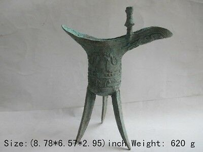 Chinese antique old shang dynasty bronze surface rust, tripod legs d02