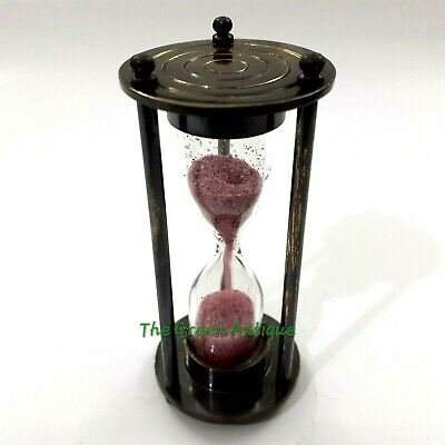 Nautical Antique Brass Mini Sand Timer Collectible Gift