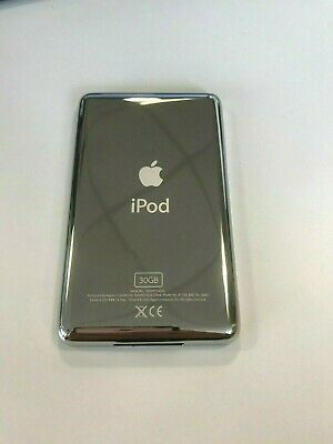 iPod Video 5th Gen Classic 30GB Back Cover Rear Metal Plate Case Silver