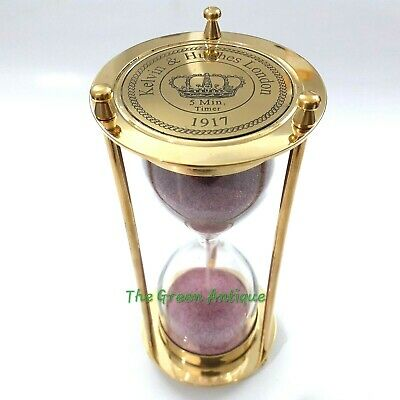 Nautical Brass Sand Timer Collectible Decorative Gift