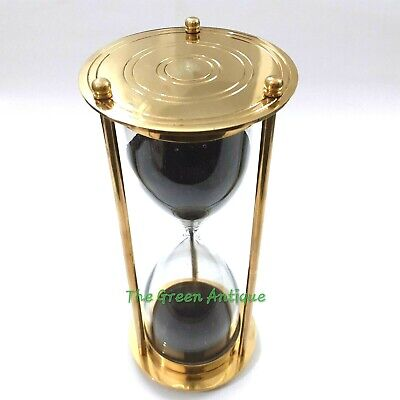 Antique Nautical Brass Sand Timer Collectible Marine Gift