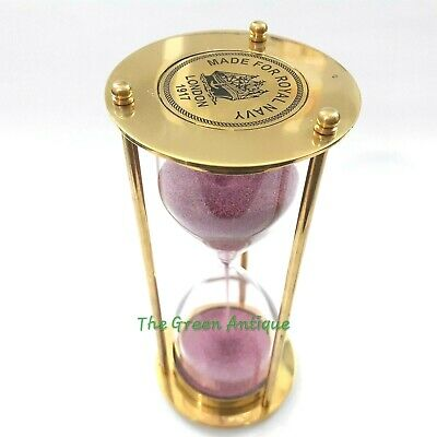 Antique Brass Sand Timer Collectible Nautical Gift