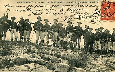 CHAMBERY Section Mitrailleuses du 3 è Bis Groupe Alpin Chasseurs Alpins Armes