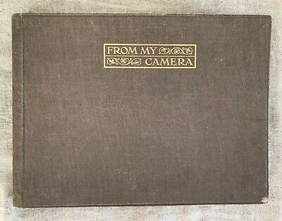 ANTIQUE 1920s PHOTO ALBUM, CLOTH BOUND for small old B&W photos, 30 pages