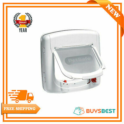 PetSafe Staywell Infra Red 4 Way Locking Deluxe Cat Flap - White - 500EF
