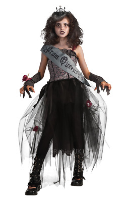 Girls Age 5 - 12 years Gothic Prom Queen Princess Costume Halloween Fancy Dress