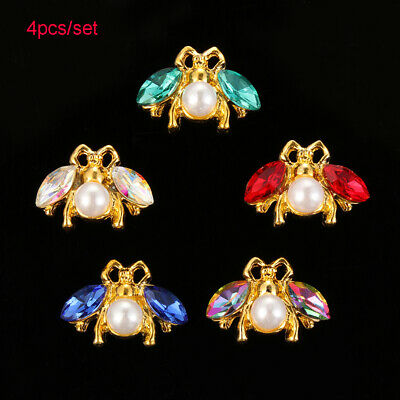 Decorative DIY Bow Accessories Bee Sewing button sew on beads Rhinestone