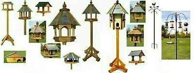 Tom Chambers Solid Wood Garden Dovecote & Bird Tables Houses Feeder Slate Roof