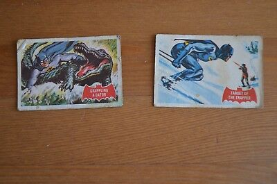 2 x Batman Cards - 1966 Numbers 2A & 4A