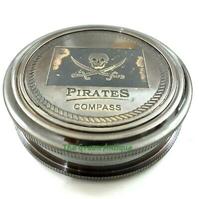 Brass Pocket Pirates Compass Antique Maritime Collectible Gift