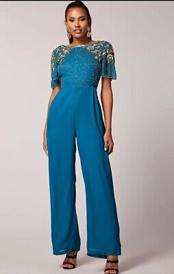 Nicola jumpsuit in teal by virgoslounge size 10