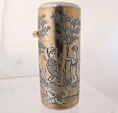 Kate Greenaway silver-gilt scent bottle SAMPSON MORDAN London 1884