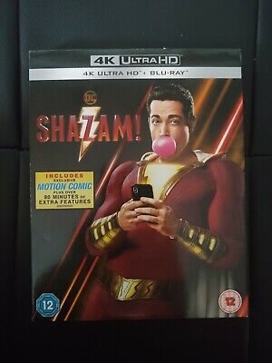 Shazam 4K Ultra HD Blu Ray SLIP COVER ONLY - NO DISCS or CASE