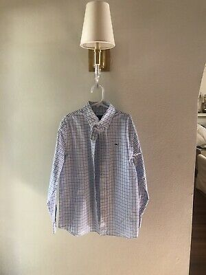 Boys Vineyard Vines Long-Sleeved Button Down Dress Shirt Size Small Pre-owned