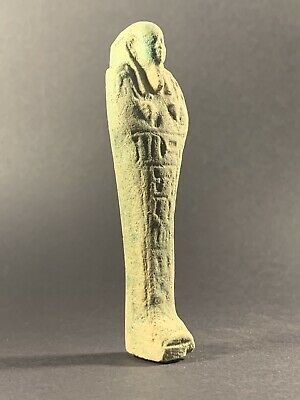 Very Beautiful Ancient Egyptian Shabti With Hieroglyphics - Circa 1200-664Bce