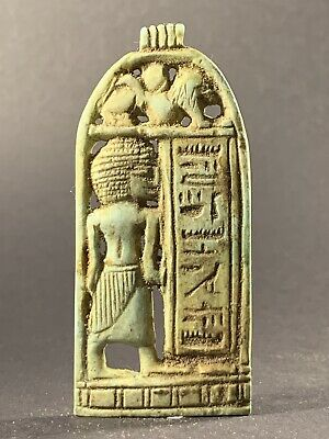 Detailed Ancient Egyptian Faience Seshat Inscribing Hieroglyphs Circa 990-332Bc