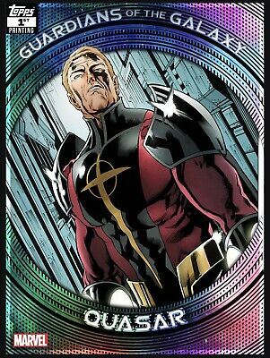 Topps Marvel Collect GUARDIANS of the GALAXY FIRST 1st Printing Quasar Card