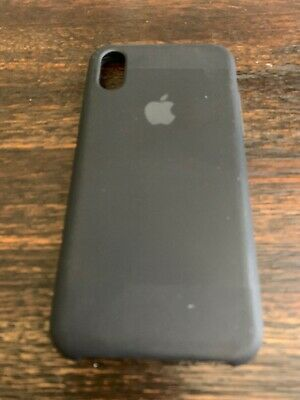 GENUINE Apple Silicone Case FOR iPhone X-XS   BLACK  PREOWNED