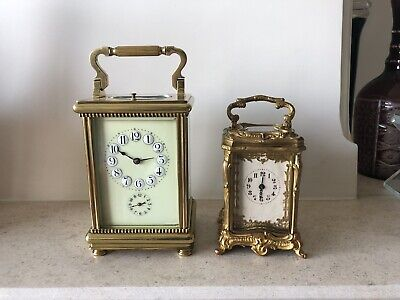 Beauiful Antique miniature Carriage Repeater Clock. Spares And Repair