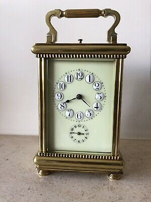Rare Antique Carriage Repeater Clock