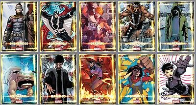 Topps Marvel Collect Card Trader INHUMANS Complete Set of 10 Award Ready