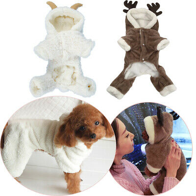 Apparel Suit Dog Flannel Vest Pet Warm Coat Puppy Jacket Thickened Clothes