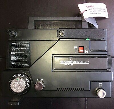 Chinon Whisper 727 Silent Dual 8 Movie Projector Black 8mm Film