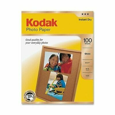 Kodak Glossy Photo Paper Letter Size Pack of 100 Sheets