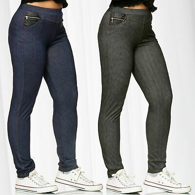 Womens Star Studded Skinny Fit Stretch Ladies Trousers Pants Jegging Treggings