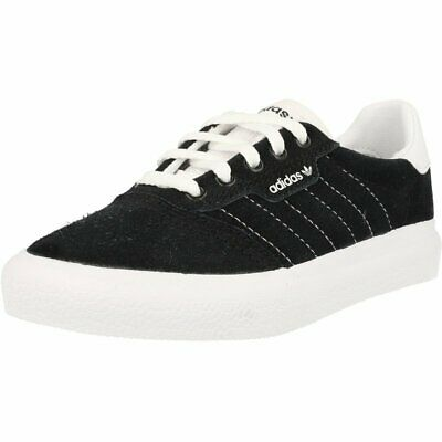adidas 3MC J Black/White Leather Youth Trainers Shoes