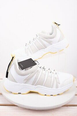 249c9eddb3860 ZARA WOMENS ATHLETIC Platform Sneakers Sz 6 Eu 36 Shoe White Yellow ...